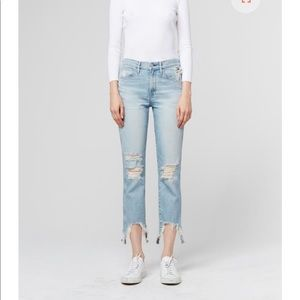 3X1 W3 STRAIGHT AUTHENTIC CROP HIGH RISE JEAN